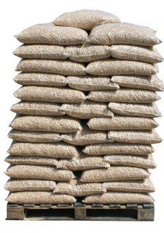 Bruine houtpellets